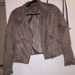 ONLYWORN ONCE brown jacket with shoulder structure